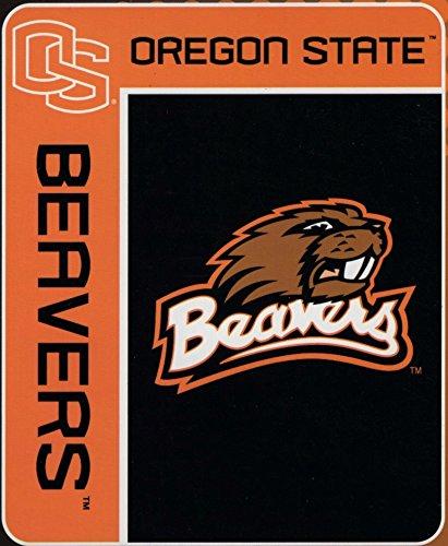 Officially Licensed NCAA Oregon State Beavers School Spirit Plush Raschel Throw Blanket, 50