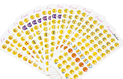 Emoji Stickers 12 Sheets Most Popular Emojis with Same Happy Faces Kids Stickers From iPhone Facebook Twitter - Face Facebook Sunglasses