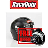 RaceQuip 273007 Gloss Black XX-Large PRO15 Full Face Helmet (Snell SA-2015 Rated) - Free Deluxe Helmet Bag Included