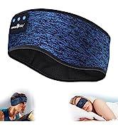 MUSICOZY Sleep Headphones Bluetooth Sports Headband, Wireless Music Sleeping Headphones IPX6 Wate...