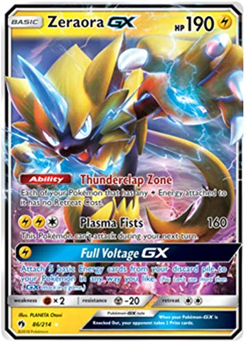 Pokemon Singles - Zeraora GX - 86/214 - Ultra Rare - Lost Thunder