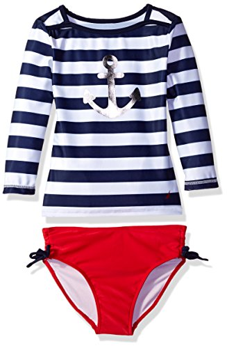 Nautica Sleeve Rashguard Anchor Stripe