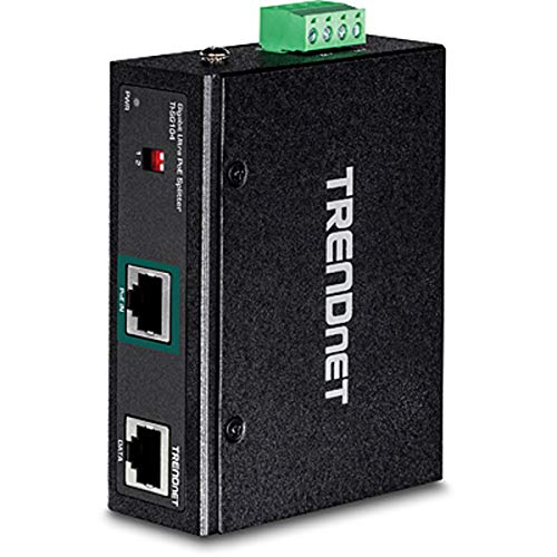 - TRENDnet Industrial Gigabit UPoE Splitter, Dual DC Power Outputs, DIN-Rail or Wall-Mountable, Adjustable Voltage Output, TI-SG104