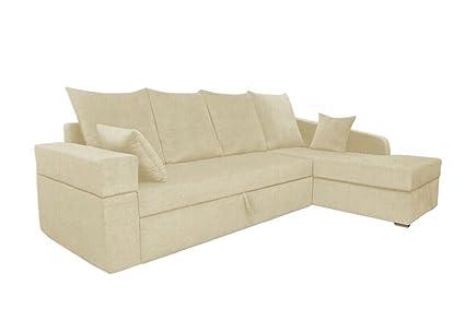 Adorn India Comfort Line Corner Cumbed Five Seater Sofa (Beige)