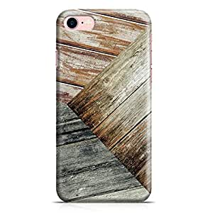 Loud Universe iPhone 7 Case 3Tone Wood Print Clear Edge Durable Wrap Around iPhone 7 Cover