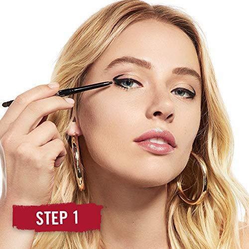 Rimmel Exaggerate Eye Definer, Noir, Pack of 1, Waterproof Long Lasting Easy Twist Up Self-Sharpening Eye Color Pencil