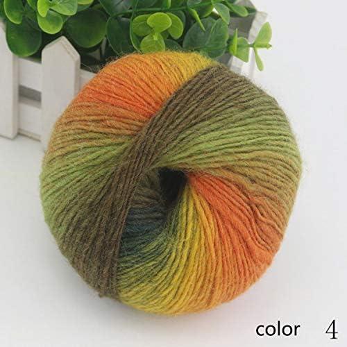 耐久性 毛糸 編み糸 ロング染色 グラジエント ウール マニュアル 織る スカーフ糸 1/3.6NM 1玉約50g 10玉セット 多色選択可 快適な (Color : Col 4, UnitCount : 20 balls)