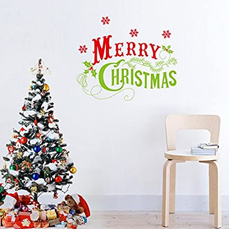 Array - mercurymall   new wall stickers merry christmas santa claus and      rh   amazon co uk