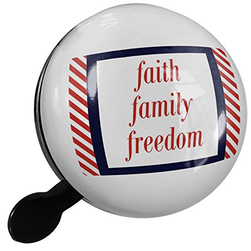 Small Bike Bell Faith Family Freedom Fourth of July Red Stripes - NEONBLOND by NEONBLOND