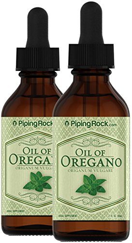 Piping Rock Oil of Oregano Liquid Extract Oreganum Vulgare 2 Dropper Bottles x 2 fl oz (60 ml)