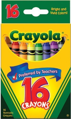16 Count Crayons - Crayola Crayons 16 Per Box (Pack of 12) 192 Crayons in Total