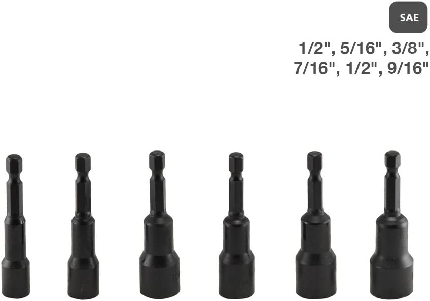"""~ 125 ~ MAGNETIC 2-9//16/"""" NUT DRIVERS SETTERS ~ 1//4/"""" ~ DRIVE HEX SHANK NUTSETTERS"""