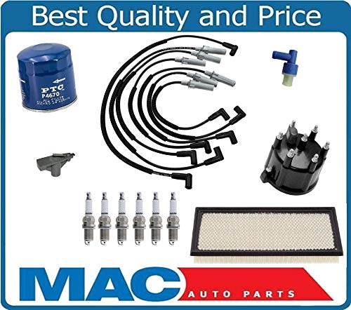 New Spark Plug Ign. Wires Cap Rotor Platinum Plugs for 97-03 Dodge Dakota 3.9L by Mac Auto Parts