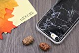5C Case, Iphone 5C case, IiEXCEL Marble Pattern Black Soft Flexible TPU Slim Fit Creative Cover Case for Iphone 5C (color 1A)