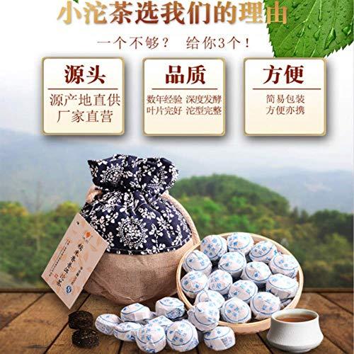 (500g (1.1LB) Fragrant Cooked Puer ripe Mini Shu Puerh tea Glutinous rice Tuocha Pu'er tea Puer tea Chinese tea Pu er tea Ripe tea shu cha healthy food Green food Old trees cooked tea)
