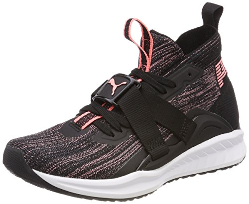 Puma Damen Ignite Evoknit 2 Wns Cross-Trainer Schwarz (Puma Black-Asphalt-Soft Fluo Peach)