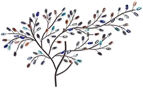 Harper Blvd Home Decor Willow Multicolor Metal/ Glass Tree Hanging Accent Wall Art Sculpture