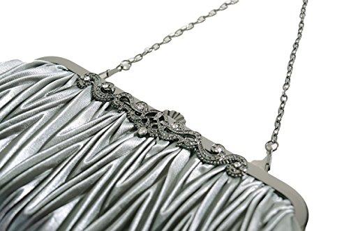 Dress Bluish Glitter Grey Evening Womens Colors Occasion Specical Purse 20 Pulama Clutch xpwBSHqSX