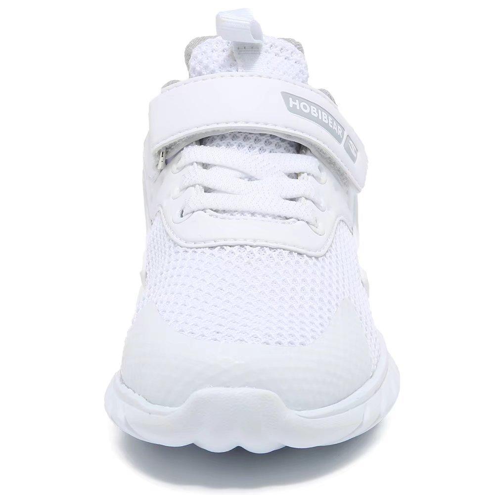 GUBARUN Kids Running Shoes Boys and Girls Lightweight Comfortable Walking Sneakers(11, White) by GUBARUN (Image #2)