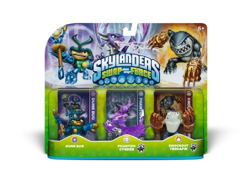 Skylanders SWAP Force Triple Character Pack: Dune Bug, Phantom Cynder, Knockout Terrafin by Activision