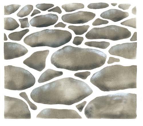 Cobblestone Wall Stencil SKU #2324 by Designer Stencils