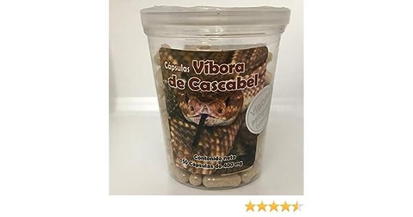 Vibora de Cascabel 150 Capsules 400mg ea. Cascabel Rattlesnake, Rattlesnake Powder, Dietary Supplement