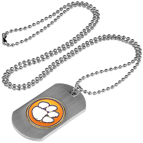 Football Medallion - LinksWalker NCAA Clemson Tigers - Dog Tag