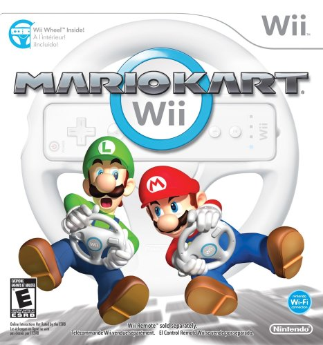 Mario Kart Wii with Wii Wheel (Best Wii Games For 7 Year Old)