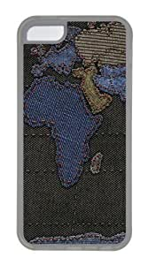 Geography cartography Custom iPhone 5C Case Cover TPU Transparent