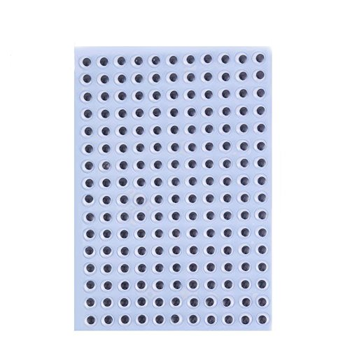 (DECORA 10mm Wiggle Eyes Sticker Self-Adhesive Eyes for DIY Crafts)