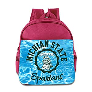 Michigan State Spartans 2015 Big Ten Conference Football Children School Bags Pink