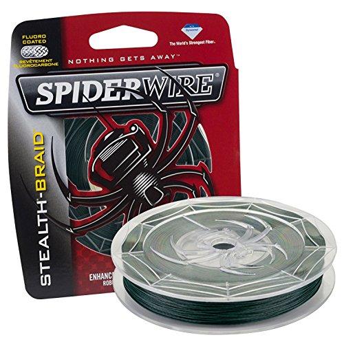 Spiderwire Braided Stealth Superline (125-Yard/65-Pound (4 Pack), Moss Green)