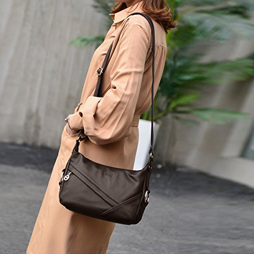 Shoulder PU Leather Travel Handbags amp;DORIS Bag Tote Crossbody NICOLE Purse Satchel Brown Bag Women Hobo qt4xC