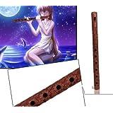 Bansuri en bois de 13 pouces en bois traditionnel à la main flûte sculptée, instrument de musique indien Bansuri