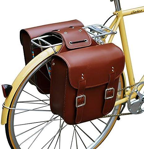 SENQI - Bolsa de Piel para sillín de Bicicleta, diseño Retro ...
