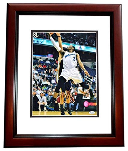 competitive price 4e362 a09ce John Wall Autographed Signed Washington Wizards 11x14 Photo Mahogany Custom  Frame - JSA Authentic