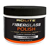 Rolite Fiberglass Polish (1lb) for Removing Water Spots, Staining, Oxidation & Hairline Scratches on Boats, Clearcoat, Acrylic and Polycarbonate