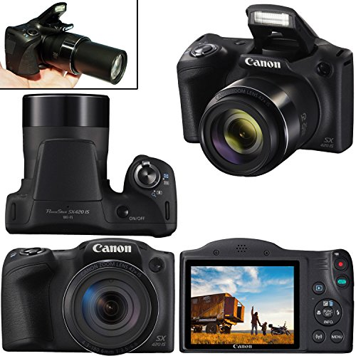 Canon Powershot SX420 is 20 MP Wi-Fi Digital Camera with 42x Zoom (Black) Includes: Canon NB-11LH Battery & Canon…
