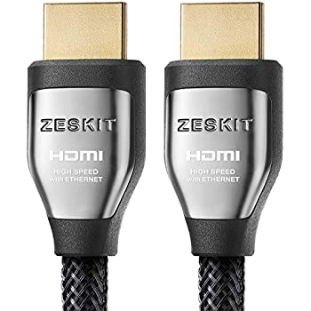 HDMI Cable 6.5ft Cinema Plus 28AWG (4K 60Hz HDR 4:4:4) HDCP 2.2 - Exceed HDMI 2.0, High Speed 22.28 Gbps - Compatible with Xbox PS3 PS4 Pro nVidia AMD Apple TV 4K Fire Netflix LG Sony Samsung