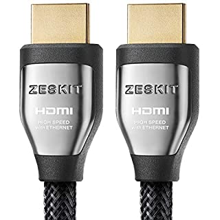HDMI Cable (6.5ft/ 2m) Cinema Plus 28AWG (4K 60Hz HDR 4:4:4) HDCP 2.2 - Exceed HDMI 2.0, High Speed 22.28 Gbps - Compatible with Xbox PS3 PS4 Pro nVidia AMD Apple TV 4K Fire Netflix LG Sony Samsung