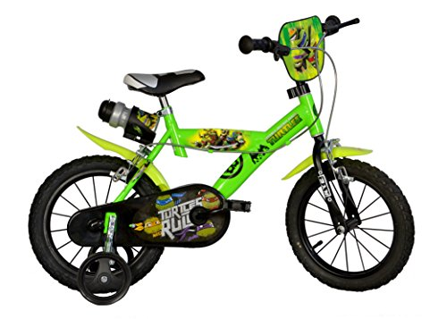 Dino Bikes 143G NT Niños Metal Verde bicicletta – Bicicleta (Vertical, Metal, Verde, 35,6 cm (14″), Cadena, De piñón Fijo)
