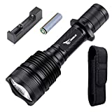 LED Tactical Flashlights Military Grade,WISSBLUE H1 3800 High Lumens Tactical Flashlight,18650 Rechargeable Flashlight high lumens,Police High Powered Flashlight With Holster Camping Tactical Equipmen