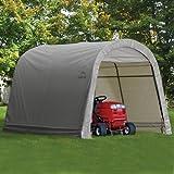 ShelterLogic Round Style Storage Shed, 10 x10 X 8-Feet, Grey