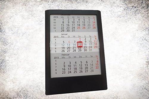 Tischkalender Standard 2 Jahre 2020/2021 schwarz