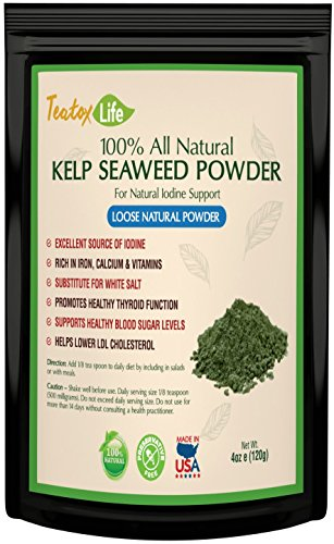 - Kelp Sea Moss Powder Seaweed Supplement Iodine Rich Thyroid Support for Hormone Balance & glandular Support | Made in USA