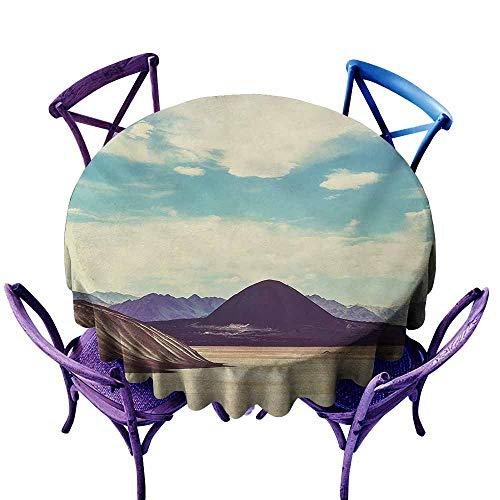 (Zodel Waterproof Table Cover,Landscape Photograph Northern Brazilian Plateau Wanderlust Serene in Abandoned Rocks Paint,Modern Minimalist,47 INCH,Multicolor)