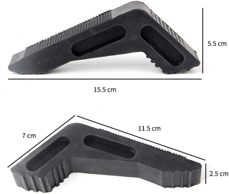 with Non-Slip Ridges,Rubber Door Stop Wedge Rubber Non-Scratching Door Stoppers for Home and Office XUNMAIFBT Premium Rubber Door Stopper
