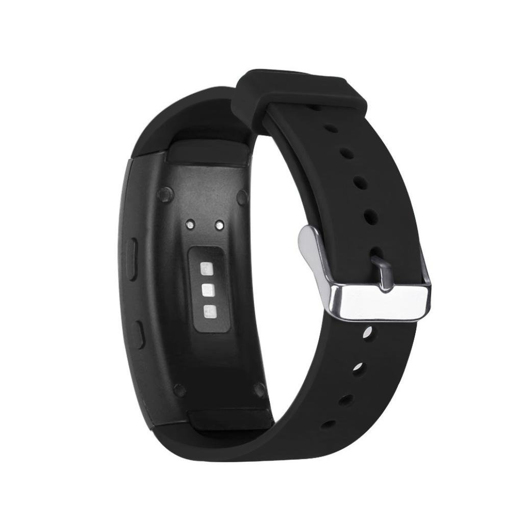 Alonea For Samsung Gear Fit2 Pro Fitness, Sports Silicone Watch Replacement Band Strap (Black)