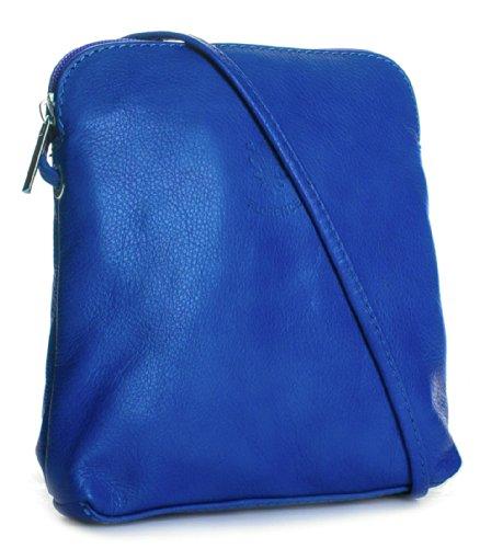 pelle italiana mini quaie cross Handbag in Reale Big donna per Blu di mano il a è portata Blu realizzato corpo a5ZqwxEw