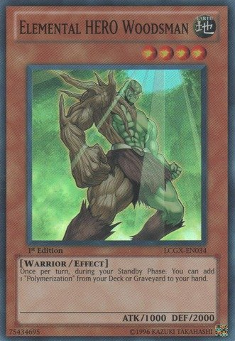 Yu-Gi-Oh! - Elemental HERO Woodsman (LCGX-EN034) - Legendary Collection 2 - Unlimited Edition - Super Rare (Hero Collection Elemental)
